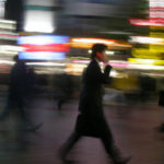 busy man blur
